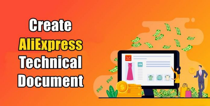 How To Create An AliExpress Technical Document For Your Products