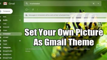 How to Set Your Own Picture as Gmail Theme