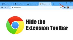 How to Disable Chrome Extension Toolbar Menu