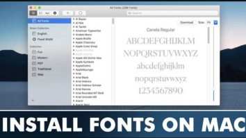 How To Install Fonts on MacOS