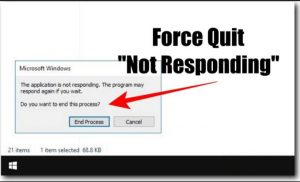 How to Force Quit Not Responding Apps On Windows