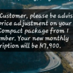 MultiChoice DStv New Price Increment, Effective From Sept 1