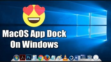 How to Get MacOS Type App Dock on Windows 10