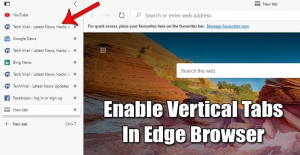 How To Enable Vertical Tabs in Microsoft Edge Browser