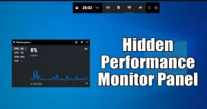 How To Enable the Hidden Performance Monitor Panel of Windows 10