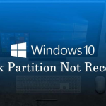 How To Fix Disk Partition Not Recognized In Windows 10